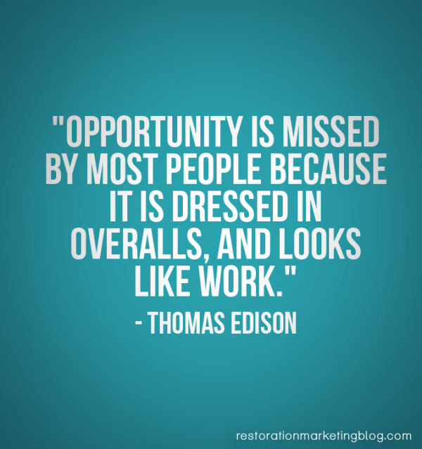 Restoration Marketing_Business Quotes_Opportunity